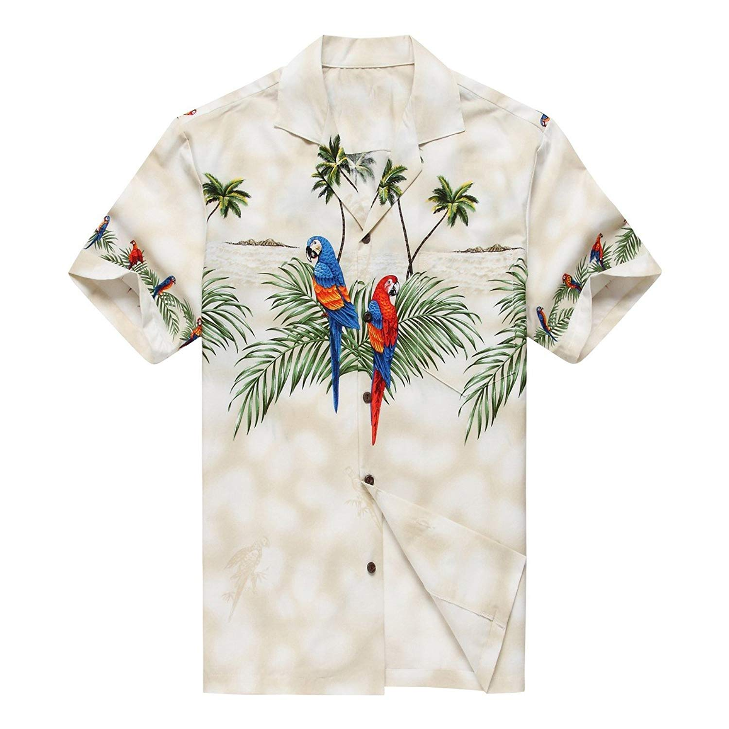 99d5a241 Get Quotations · Made in Hawaii Boy Young Adult Luau Aloha Shirt Hawaiian  Shirt in Parrots and Palms Matching