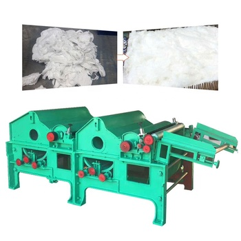 High efficiency fabric cotton recycling and opening machine waste cloth shredding and clearing machine