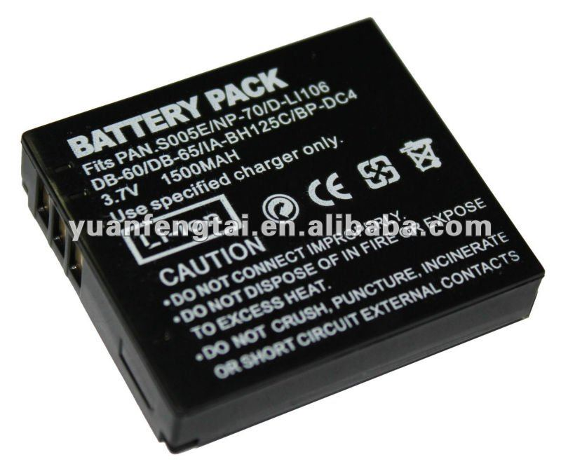 For panasonic 3.7v 1500mah li-ion camcorder batteryCGA-S005/DMW-BCC12