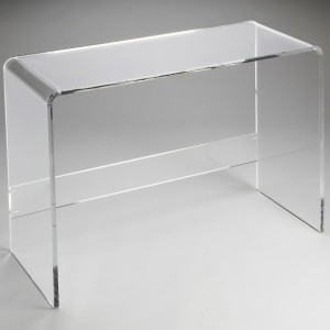Rectangular Plexiglass Perspex acrylic console table