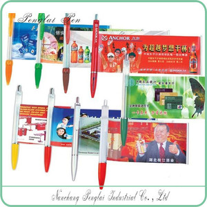 Pull out banner pen,promotional banner pen,promotional pen with pull out paper