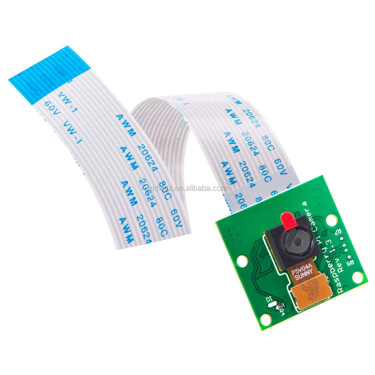 5 Megapixels Raspberry Pi Camera Module 1080p OV5647 Sensor with 6 inch 15 Pin Ribbon Cable for Model A/B/B+, Pi 2, Pi 3 and 3B+