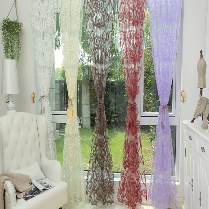 voile tissu rideau promotion achetez des voile tissu rideau promotionnels sur. Black Bedroom Furniture Sets. Home Design Ideas