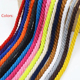 Factory price wholesale colorful macrame cotton cord 5mm