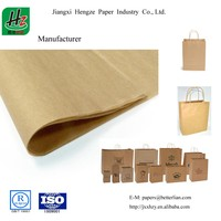 Uncoated Unbleached 80GSM Recycled Bag Kraft paper sheet