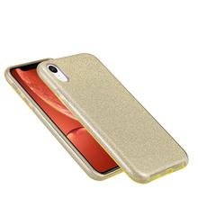 Mobile <span class=keywords><strong>Zubehör</strong></span> Goldene 3 in 1 Glitter Tpu PC Telefon Abdeckung Fall Für iPhone XR