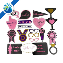 20 Piece Bachelorette Party Photo Booth Props Set