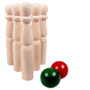 Children toys solid wood bowling throwing ball set