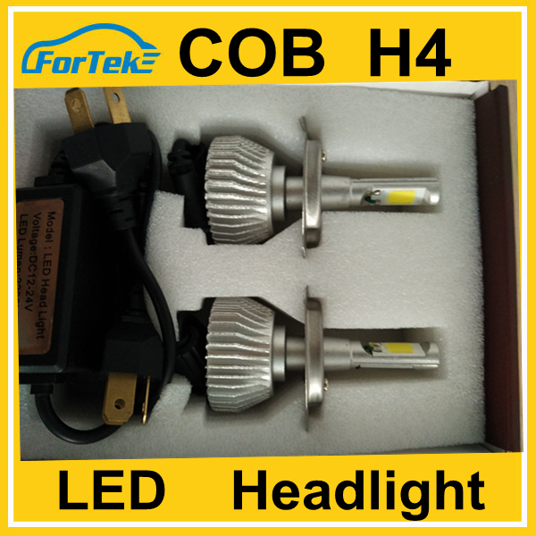 Lowest price on alibaba high quality car h4 led headlight bulbs cob chips