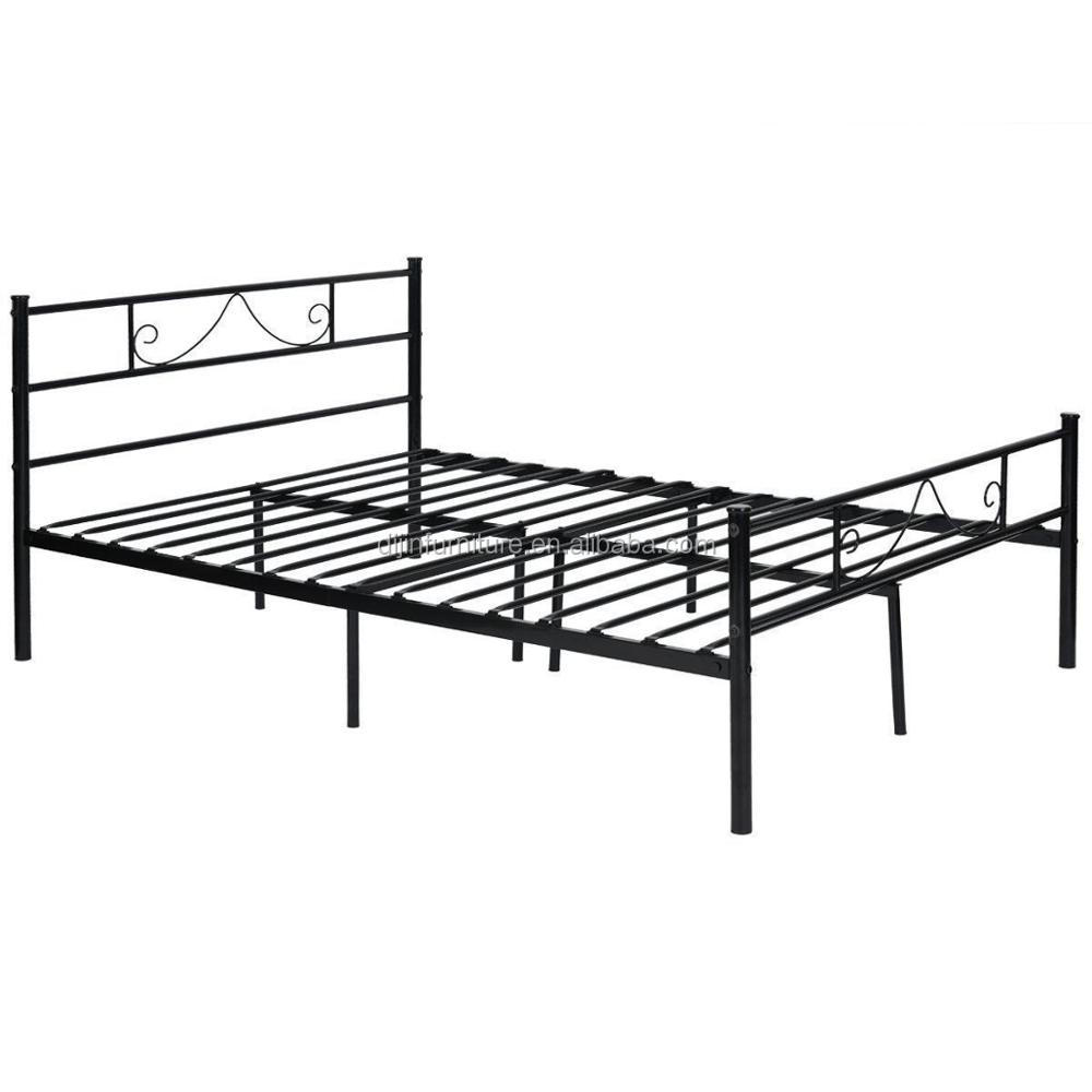 Metal Bed Frame Size Single Small Double Bed 4ft6 Solid