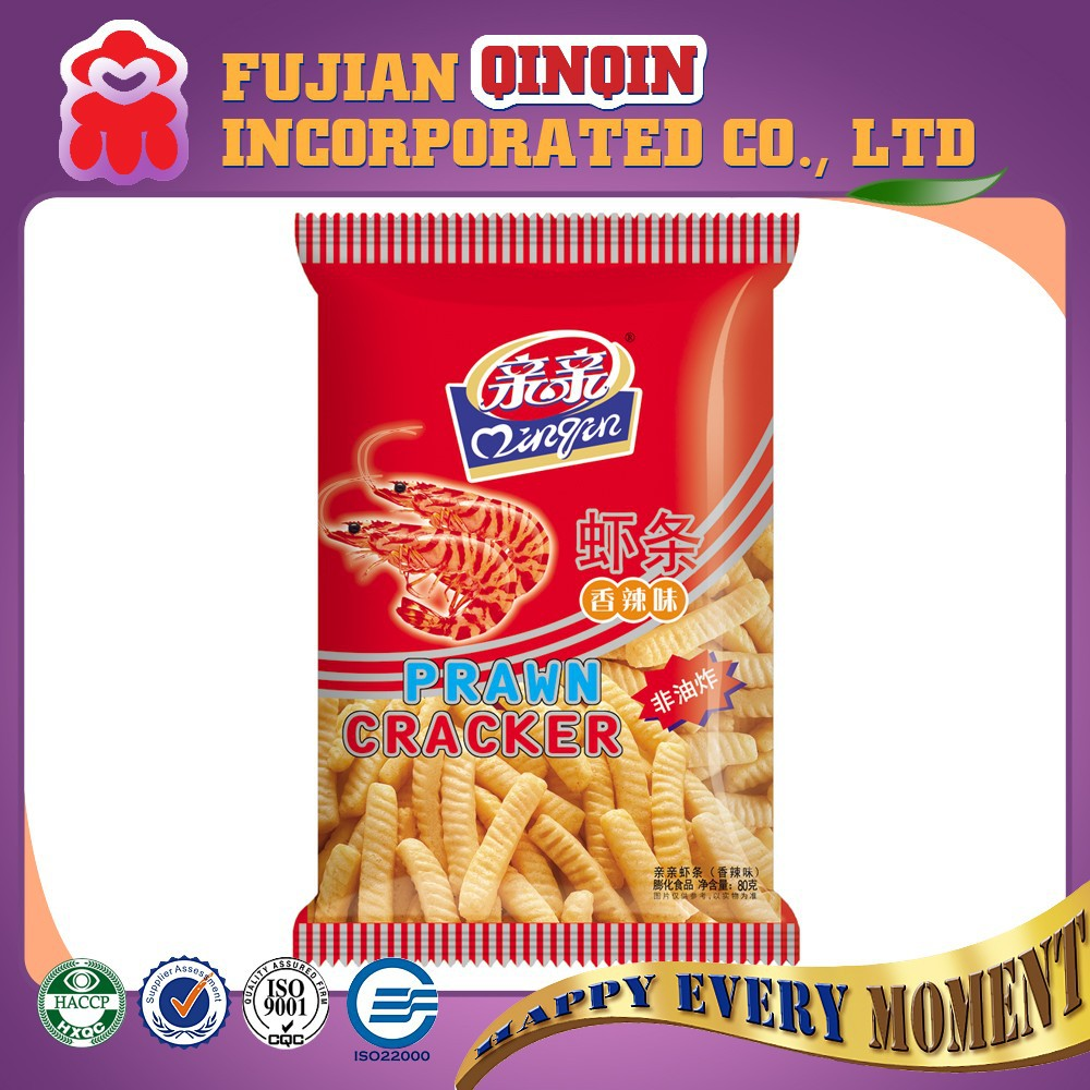 non-fried healthy dried spicy prawn cracker snack chips