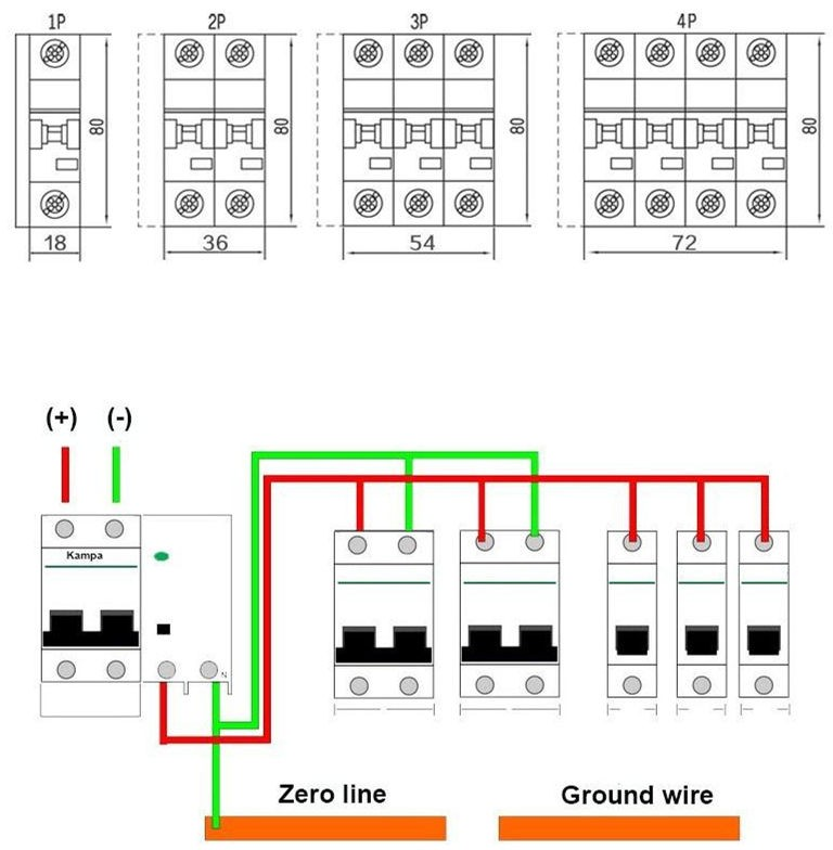 10ka Solar Pv System 63 Amp Dc Mcb Miniature Circuit