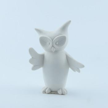 New Brand 2017 White Ceramic Owl Figurine Made In China