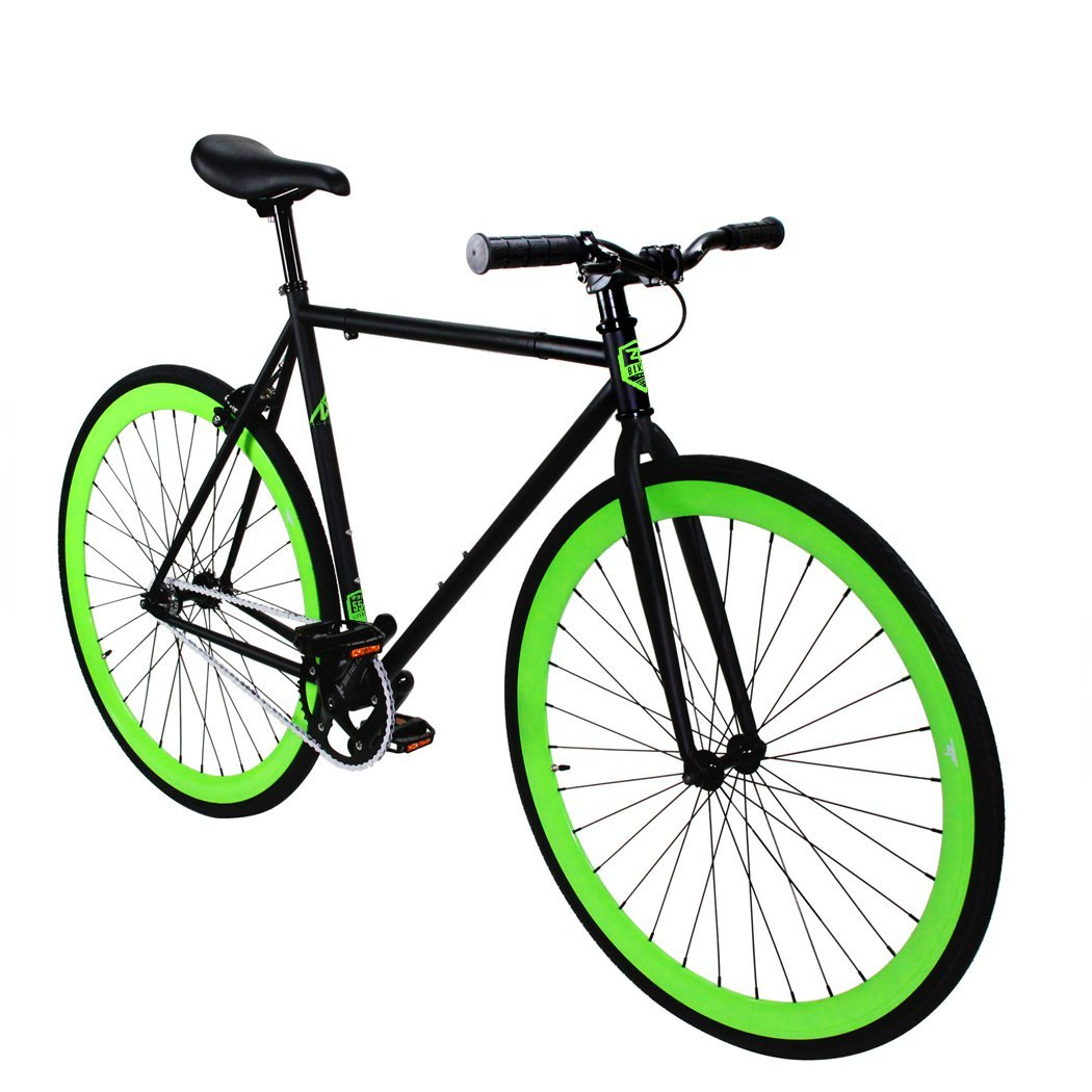 Zycle Fix Fixed Gear Series- ZF Green Monster Model Matte Black Frame - FREE inner tubes with purchase (Chaoyang Brand)