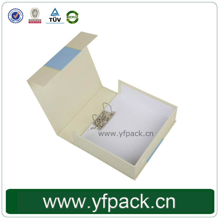 Custom Print A4 File Box With Magnetic Closure Flip Lid