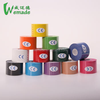 Kinesiology tape 12 colors 5cm x 5m Sports Roll Cotton Elastic Adhesive Muscle coloured tapes