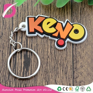 Custom Plastic 3D Soft Pvc Rubber Name Keychain manufacturers in china