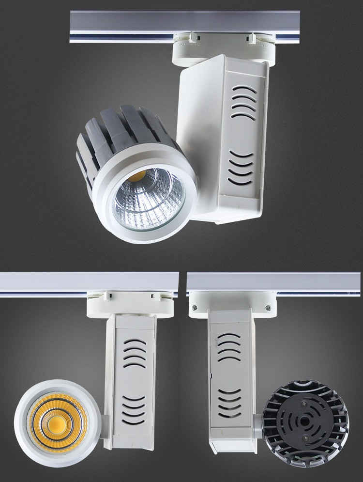 15W COB LED Track Light Aluminum Housing COB Track Light