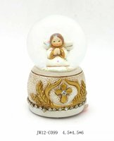 Wholesale christian religious gifts jesus christ family statue 65mm solid glass ball
