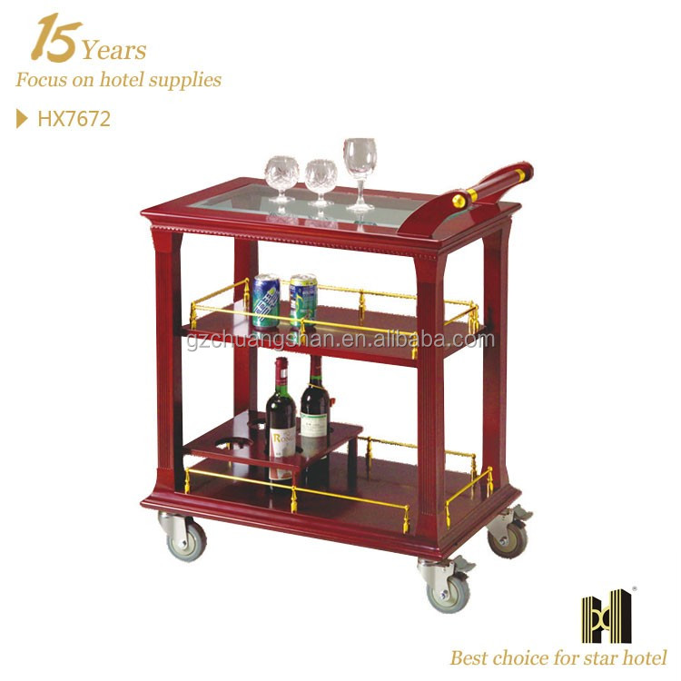 holz servierwagen warenkorb einkaufswagen trolley. Black Bedroom Furniture Sets. Home Design Ideas