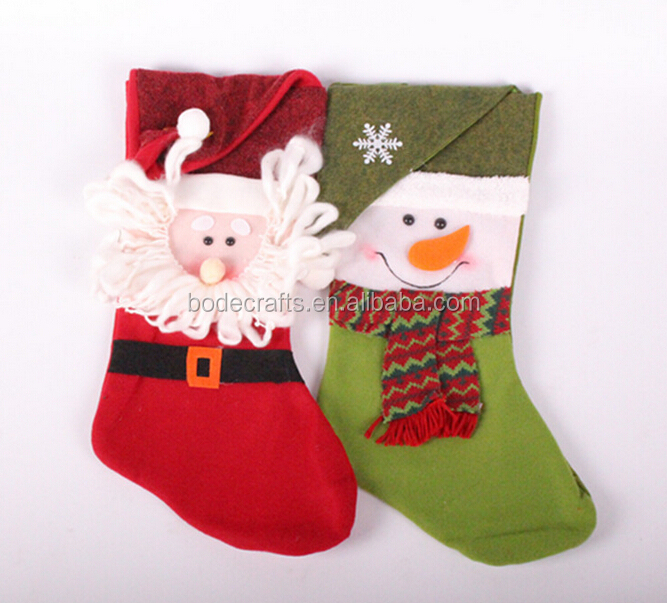 Christmas gifts socks The five-star folding hat old man Christmas stockings Snowflakes folding hat large sock snowman Christmas