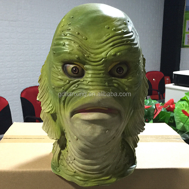 Fishlabs animal scary New Funny Creepy Cosplay Animal Halloween Costume Comedy Theater Prop Head Mask