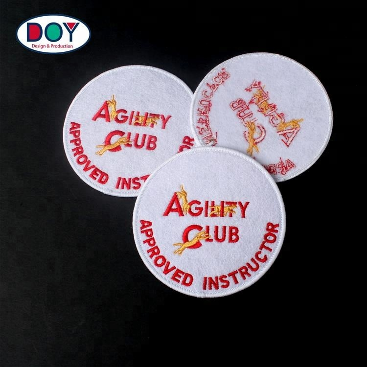 Clothing Felt Fabric Patches Maker Custom Embroidery Your Own Club Patterns  Logo Embroidered Badges - Buy Clothes Embroidered Badges,Embroidery Badge