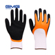 Hot Sale GMG Funny Gloves13G Polyester Shell Nitrile Half Coated Sandy Thumb Machinery For Nitrile Gloves