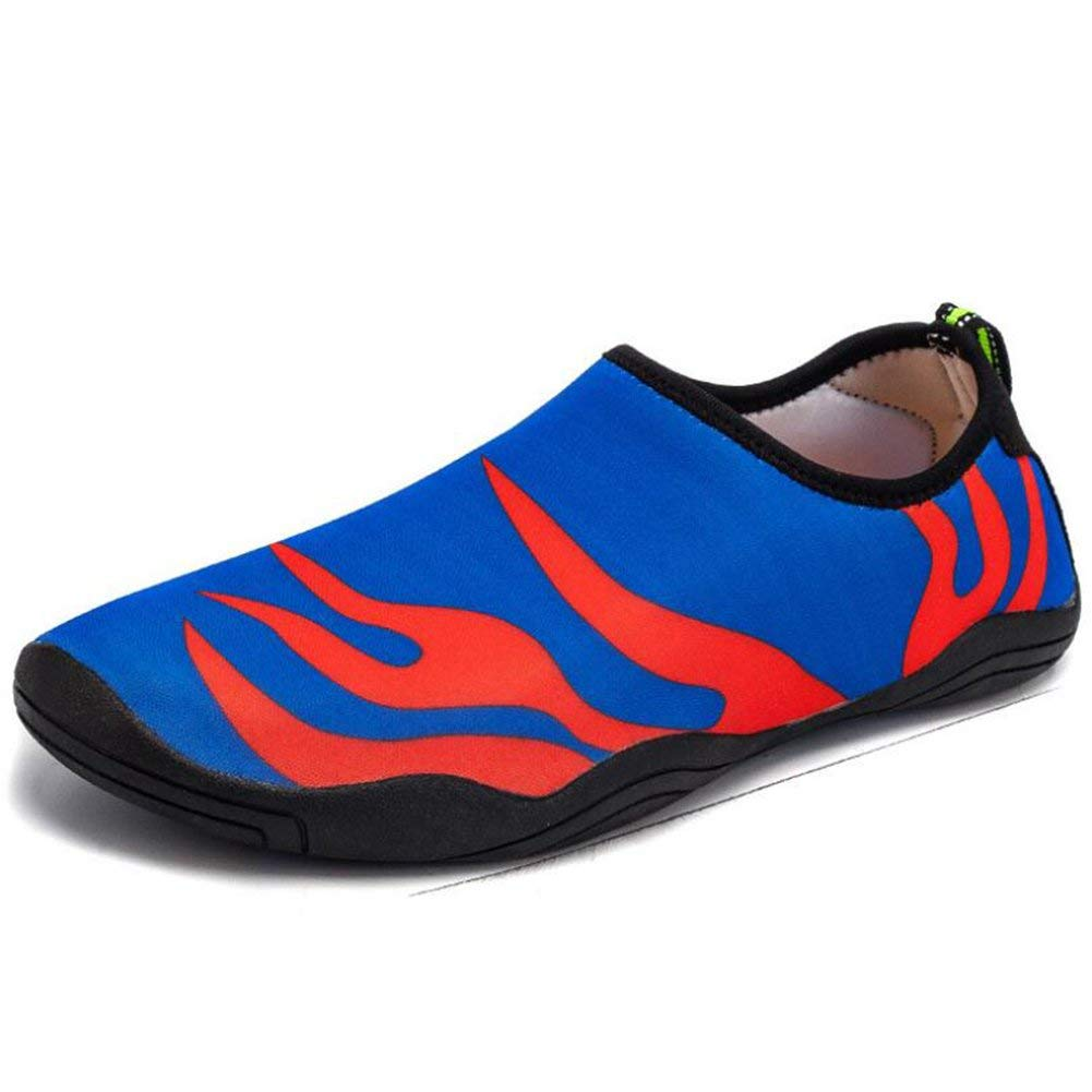 Mens Womens Barefoot Aqua Water Shoes 2018 New Men's Shoes Women's Soft Shoes Wading Shoes Children's Beach Shoes Female Swimming Shoes Non-slip Fitness Jump Rope Shoes (Color : Blue, Size : 37)