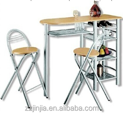 Bar table set rack breakfast table