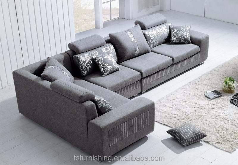 md610 contemporain moderne luxe gris confortable velours tissu salon en coupe meubles de maison en forme - Salons Moderne En Velours