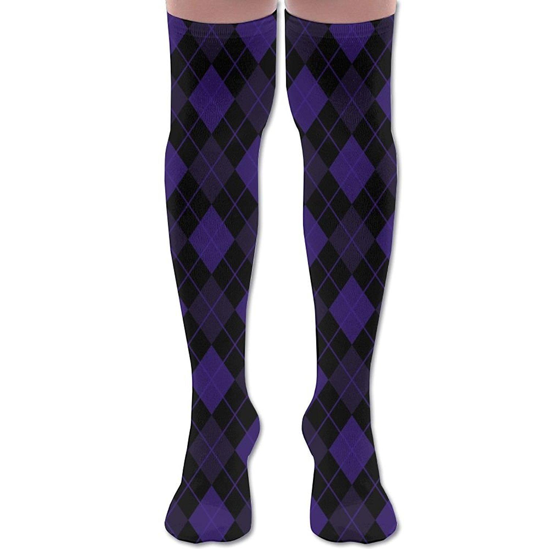 68ef8d41695 XYMNZGS Fun Argyle Diamonds Womens Socks Knee High Over The Knee Socks For  Nursing Mens Socks