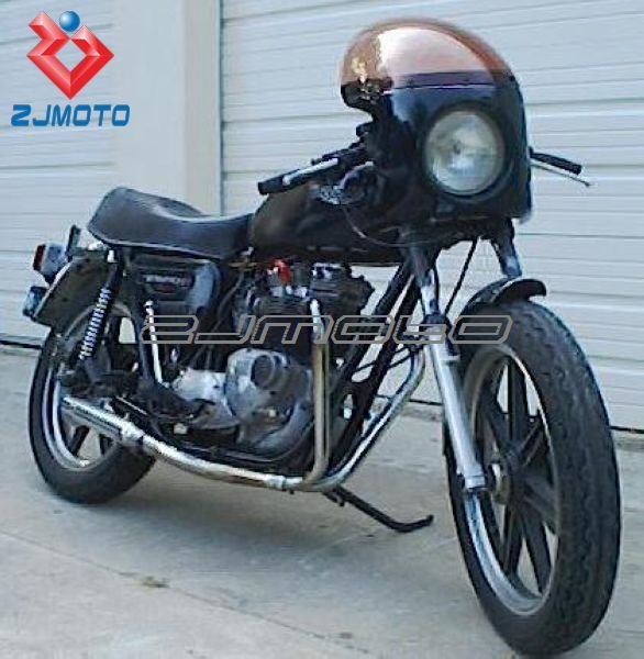 motorcycle front headlight fairing&windshield cafe racer front