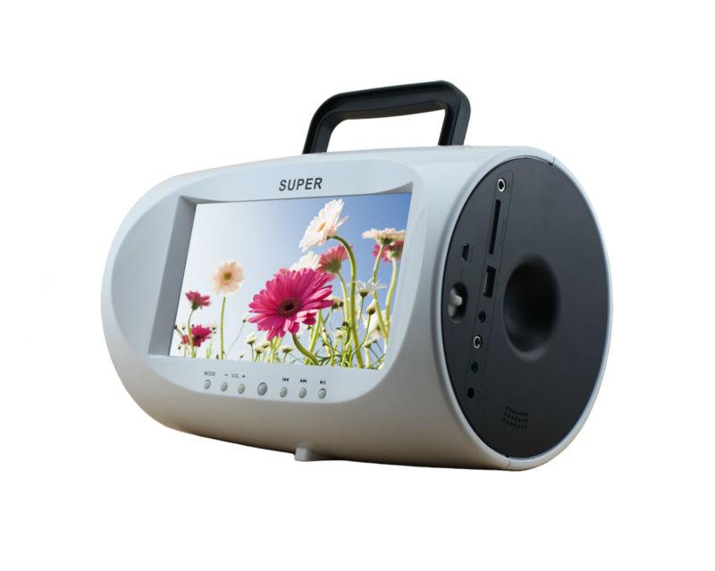 best seller 7 5 polegada portable dvd tv boombox lecteur cd portatif id du produit 899713372. Black Bedroom Furniture Sets. Home Design Ideas