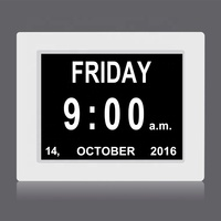 Developed by CTS since 2011, mass production and sells since 2013, 8 inch digital calendar day clock for dementia or alzheimer