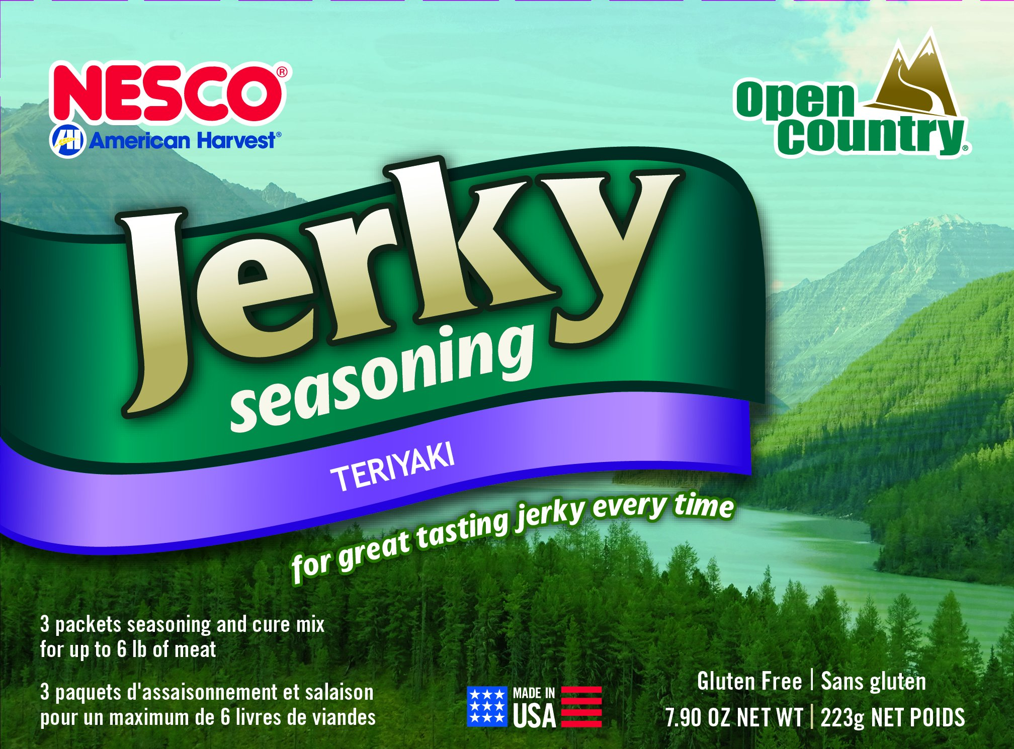 Nesco BJT-6 Jerky Spice Works, Teriyaki Flavor, 6 pack (Packaging may vary)