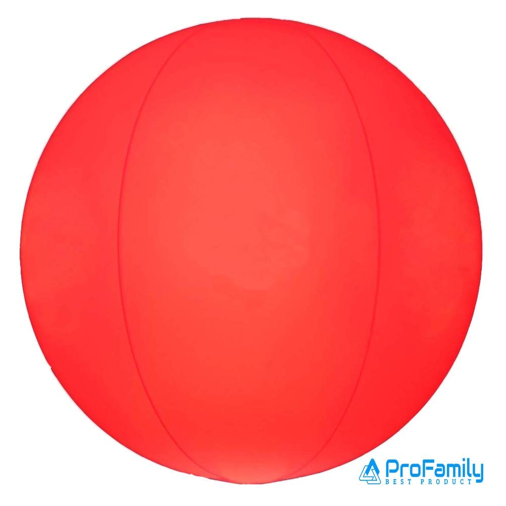 AProFamily Light Up LED Playground Balls Kickball Beach Ball LED Light Waterproof Glow 3 Colors Night Outdoor Activity Pool Camping Decoration Lamp 10.2'' for Children Kids