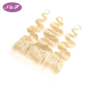 YF Remy Brazilian Hair Body Wave Blonde Color Ear to Ear Lace Frontal Human Hair 613 Front 13x4 Middle aSnd Free Part