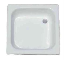 Square drop in enaeled cast iron shower tray/basin