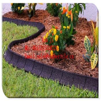 Playground Flexible Edging Garden Rubber Border,crumb Rubber Edge For Kids  Garden