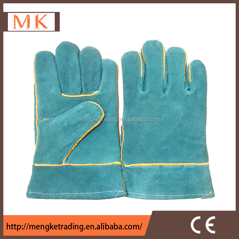 Inexpensive leather work gloves - Industrial Hand Gloves Cheap Leather Men Wholesale Work Gloves