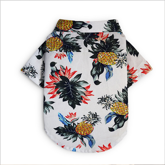 Alla moda sandbeach stile pet T shirt colorful vestiti del cane per l'estate stampato polo camicia di corrispondenza gatto e umani vestiti dell'animale domestico