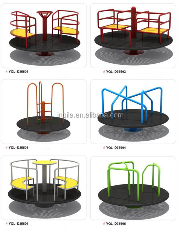 High quality children outdoor playground swivel chair disabled only