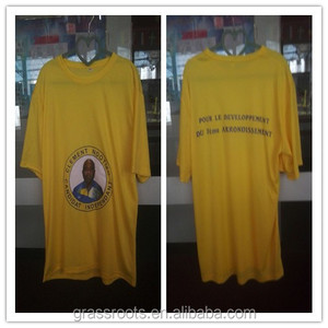 chinese factory cheapest polo tee/ white yellow blue election t shirt,Design election t shirt printing