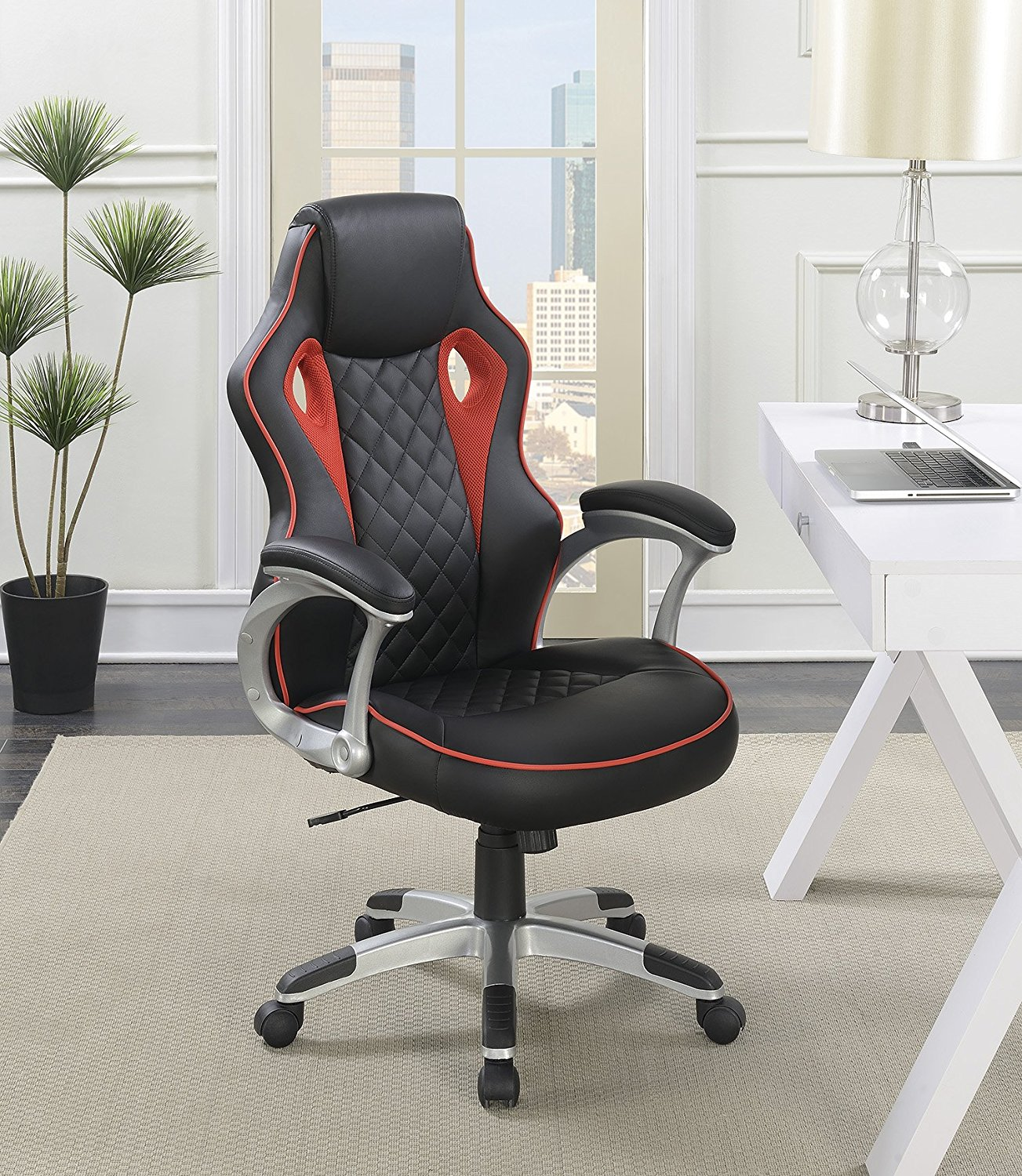 Buy Grand Prix Gt Office Chair In Red Black Amp Pitstop Gt Spoiler