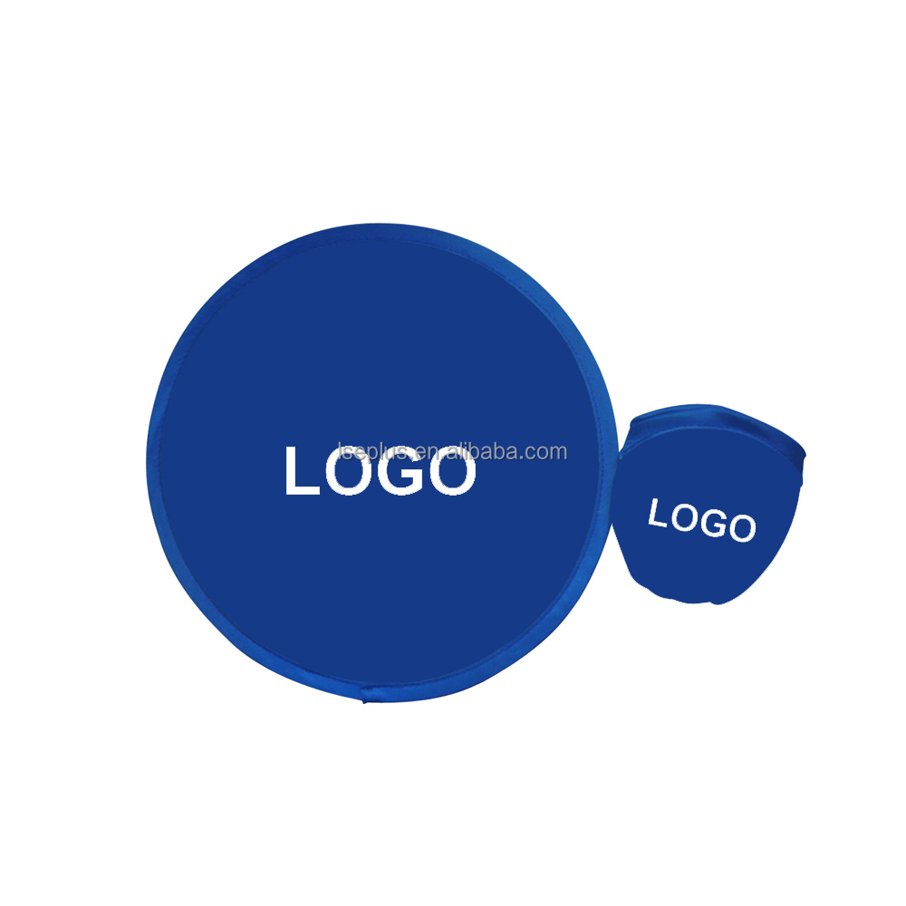 Wholesale colorful Promotion Foldable Frisbee, Customizable AD foldable frisbee fan