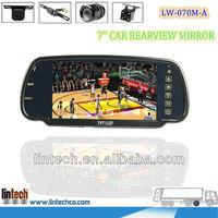 New Car Reversing Kit Rear View LCD Mirror+4 Parking Sensors Alarm+Backup Camera