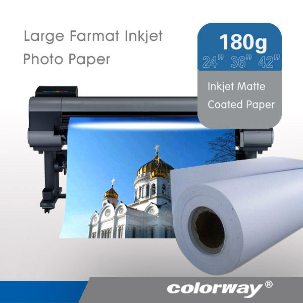 Wide-Format Roll 24-lb Bright White Inkjet Paper