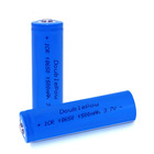 3.7V 1500mAh 18650 li-ion rechargeable battery with button top