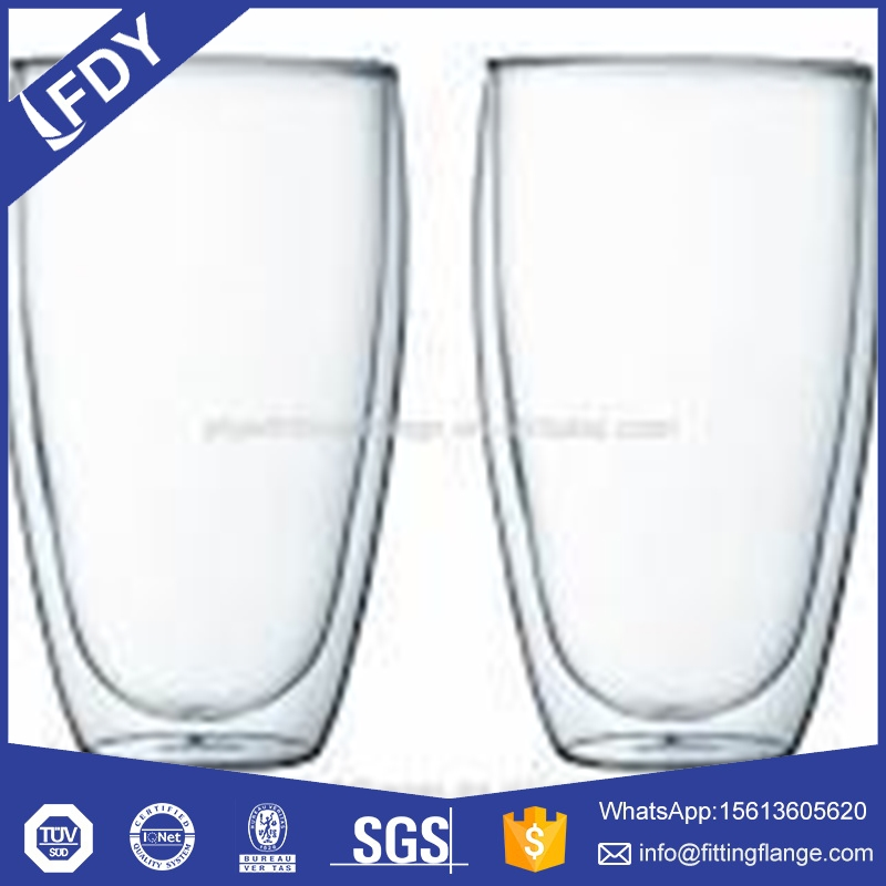 decalcomania paper cup,double water glass,double wall glass cup